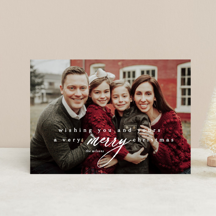 """wishing you & yours"" - Holiday Petite Cards in Winter by Kasia Labocki."