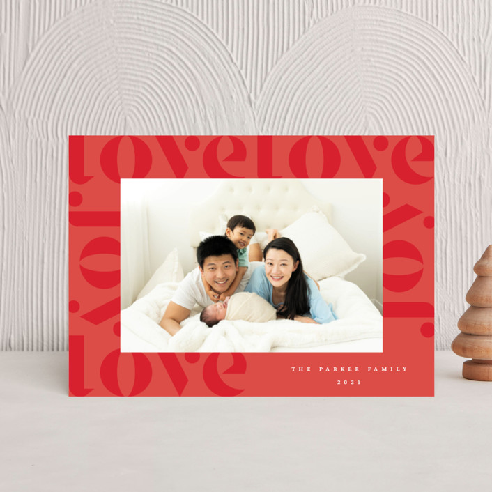 """""""Love Joy"""" - Holiday Petite Cards in Holly Berry by Kann Orasie."""