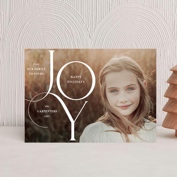 """Joy Elegance"" - Holiday Petite Cards in Snow White by Nam Bourassa."
