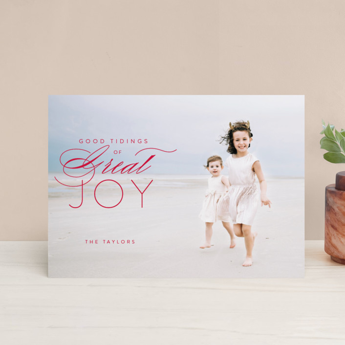 """""""luke 2:10"""" - Holiday Petite Cards in Holly by Guess What Design Studio."""