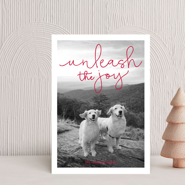 """Unleash the Joy"" - Holiday Petite Cards in Rudolph's Nose by Sandra Picco Design."
