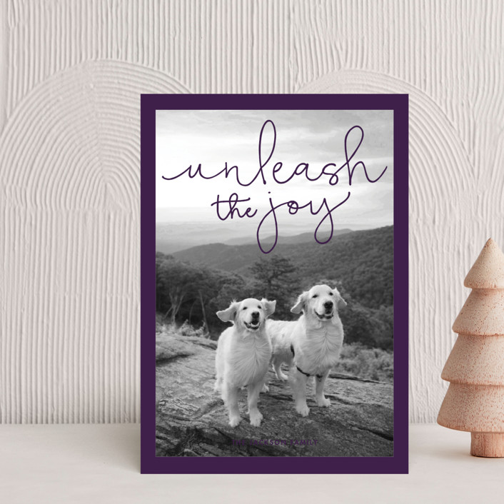 """""""Unleash the Joy"""" - Holiday Petite Cards in Plum by Sandra Picco Design."""