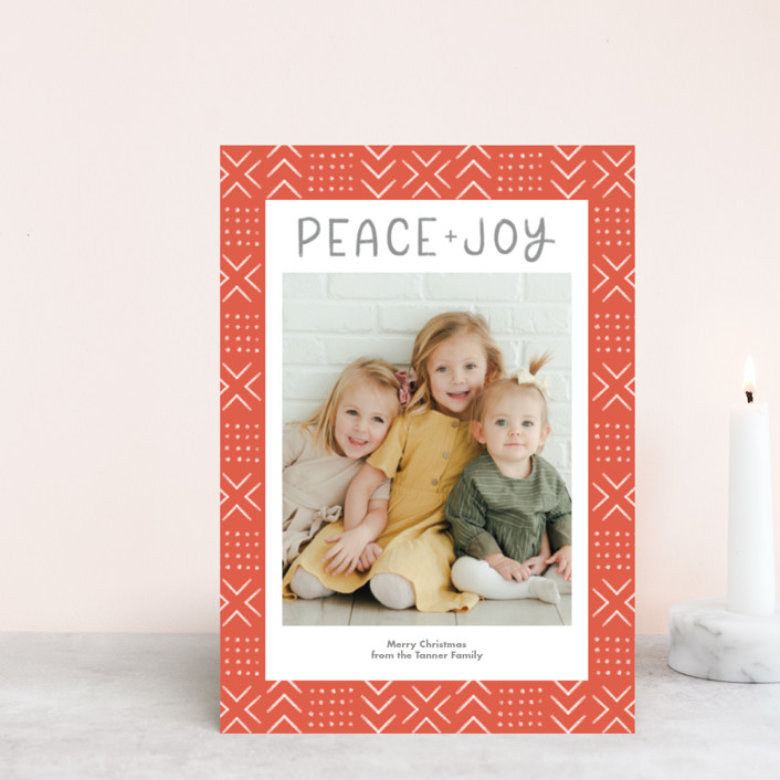 """""""Peaceful Pattern"""" - Bohemian Holiday Petite Cards in Tangerine by Something Noir."""