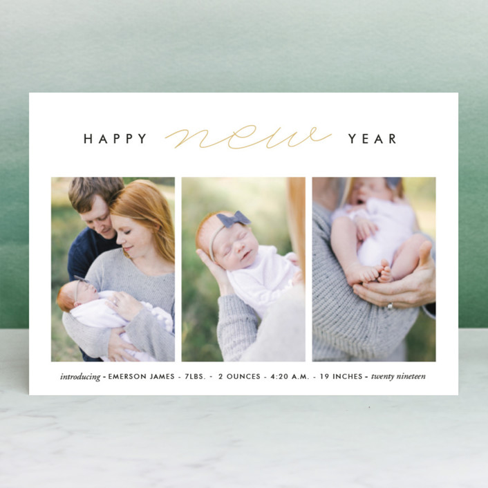 """So Modern"" - Holiday Petite Cards in Pearl by Oma N. Ramkhelawan."