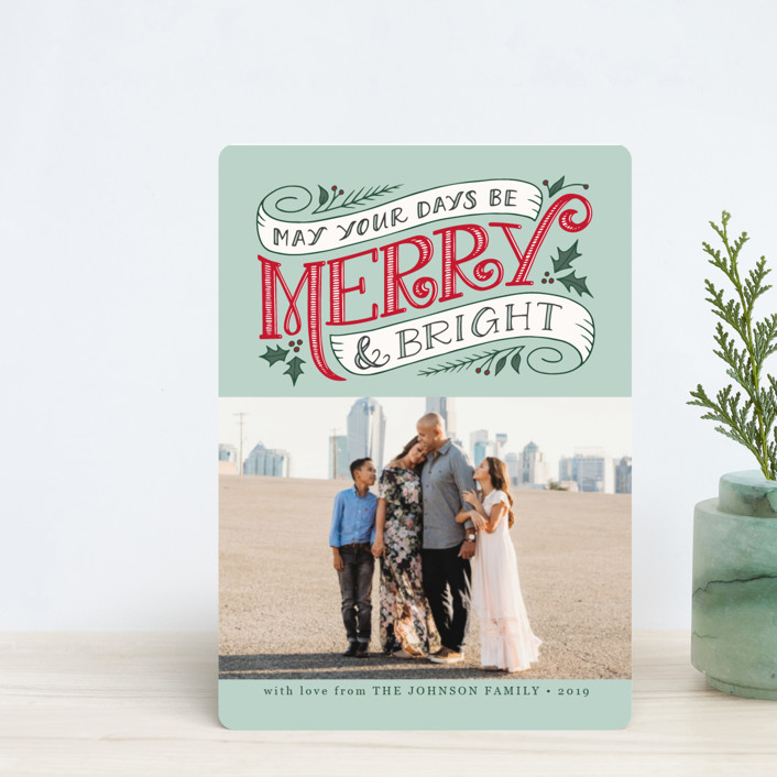 """""""Merry and Bright Topper"""" - Vintage Holiday Petite Cards in Wintermint by Jamie Schultz Designs."""