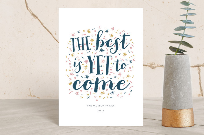 """""""New Year Message"""" - Holiday Petite Cards in Snowfall by iamtanya."""