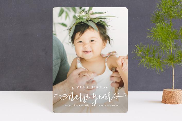 """Very happy"" - Holiday Petite Cards in Snow by Lea Delaveris."