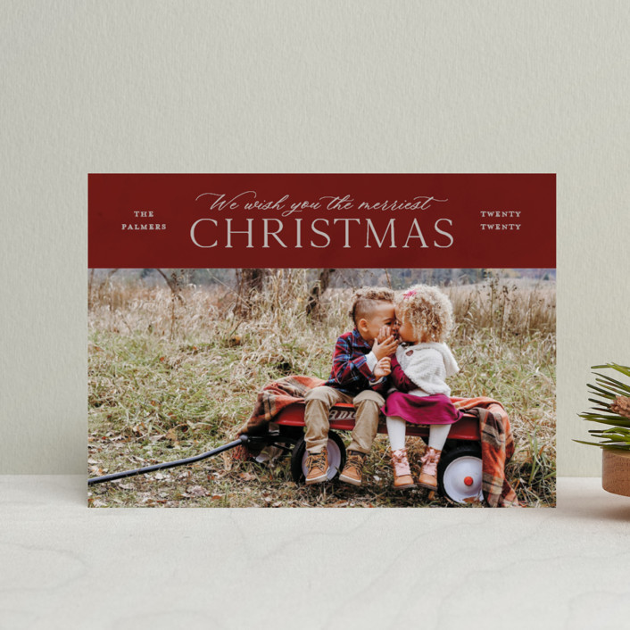 """""""We Wish"""" - Holiday Petite Cards in Wine by Ellis."""