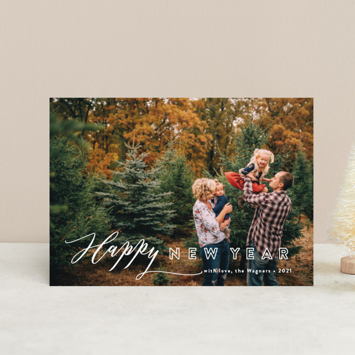 """""""All In"""" - Modern Holiday Petite Cards in Winter by Jennifer Wick."""