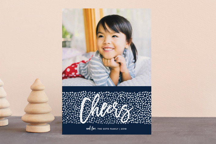"""""""Peace Dots"""" - Holiday Petite Cards in Navy by Paper Dahlia."""