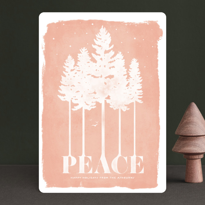 """Serene"" - Bohemian Holiday Petite Cards in Peach by GeekInk Design."