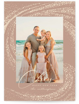 This is a brown petite holiday card by Vivian Yiwing called Cheer Rays with standard printing on smooth signature in petite.