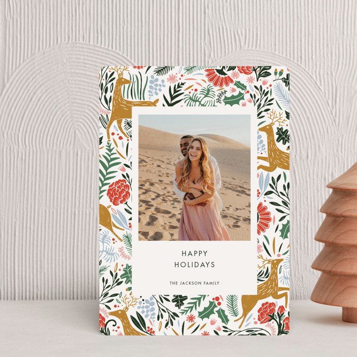 """Holiday Forest Photo"" - Bohemian Holiday Petite Cards in Jour by Made by Mosa."