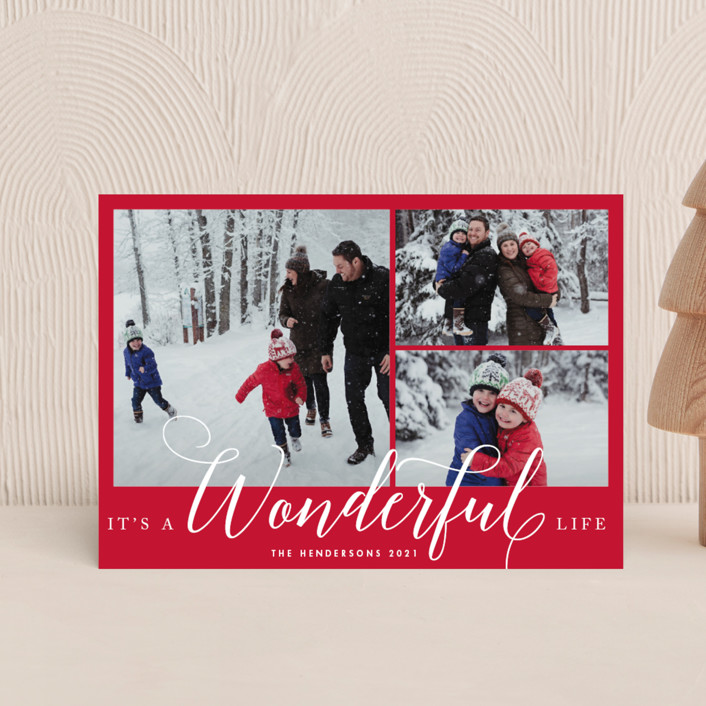 """""""A Wonderful Life"""" - Holiday Petite Cards in Snow by Qing Ji."""