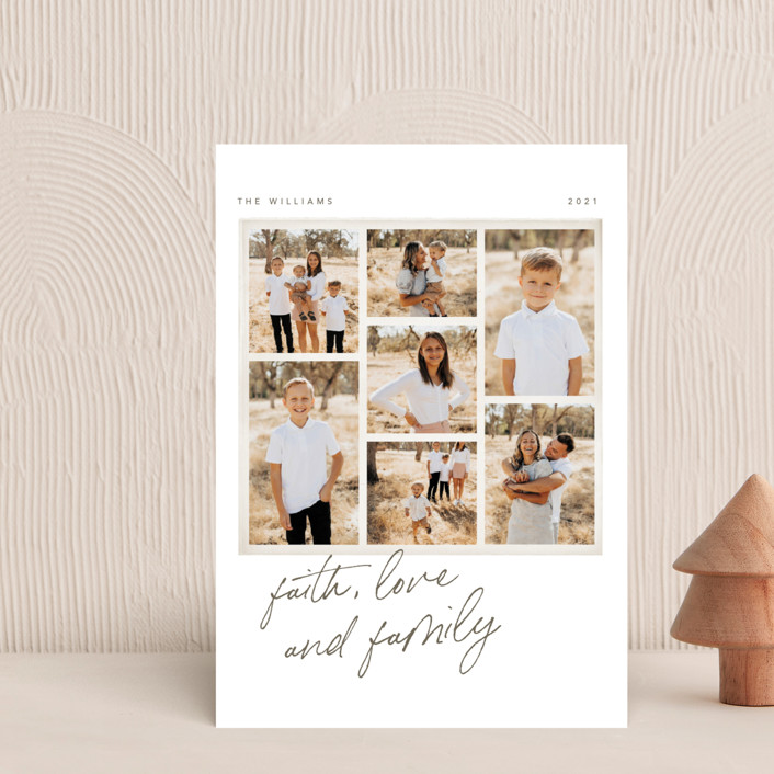 """""""Seven Stack"""" - Holiday Petite Cards in Chestnut by Robert and Stella."""