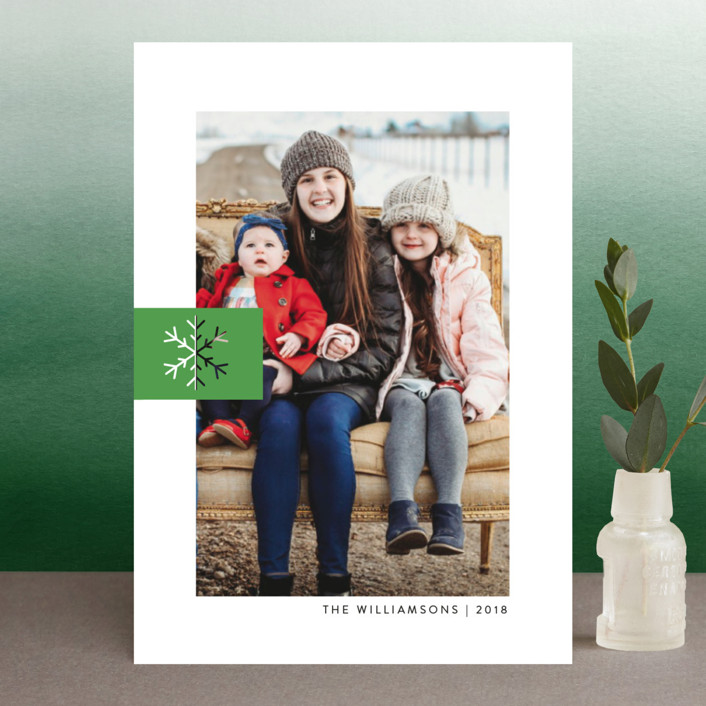 """Snowflake Tab"" - Holiday Petite Cards in Poinsettia by Ellis."