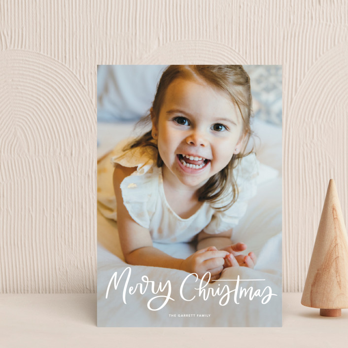 """""""Modern Merry Greeting"""" - Holiday Petite Cards in Winter by Kristen Smith."""