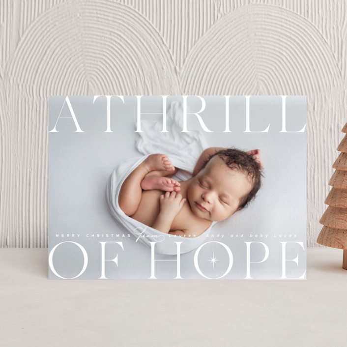 """""""A modern thrill of hope"""" - Holiday Petite Cards in Starlight by Kann Orasie."""
