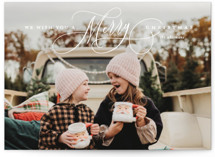 This is a white petite holiday card by Lauren Chism called Jubilantly with standard printing on smooth signature in petite.