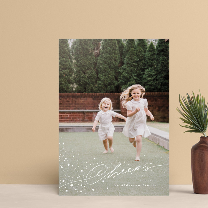 """Stardust"" - Bohemian Holiday Petite Cards in Snow by Anastasia Makarova."