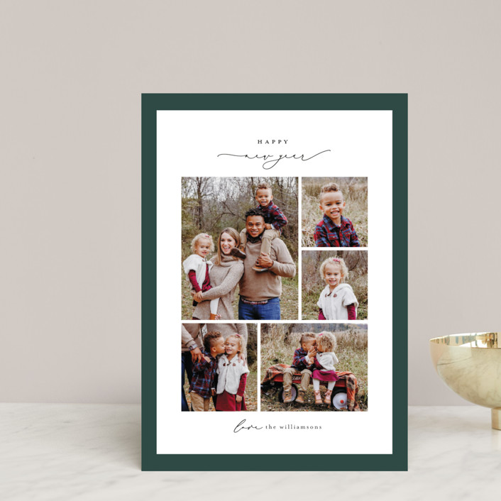 """Framed Collage"" - Holiday Petite Cards in Pine by Ekko Studio."