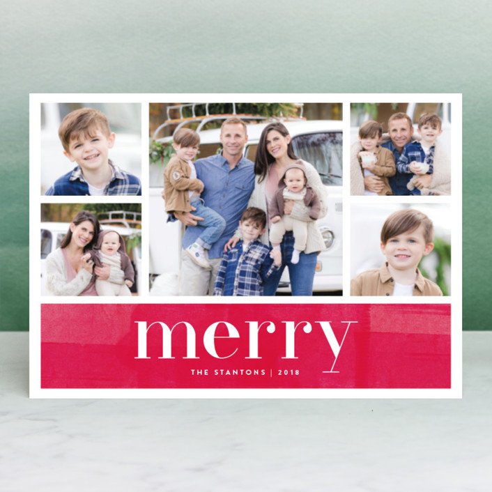 """Bright Merry"" - Holiday Petite Cards in Berry by Kelly Nasuta."