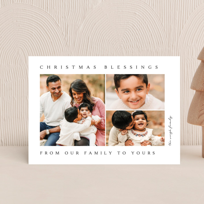 """""""family blessing"""" - Holiday Petite Cards in Ink by Kasia Labocki."""