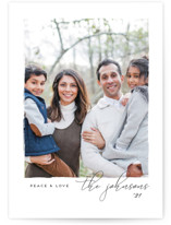 This is a white petite holiday card by Snow and Ivy called Notable with standard printing on smooth signature in petite.