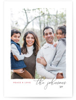 This is a grey petite holiday card by Snow and Ivy called Notable with standard printing on smooth signature in petite.