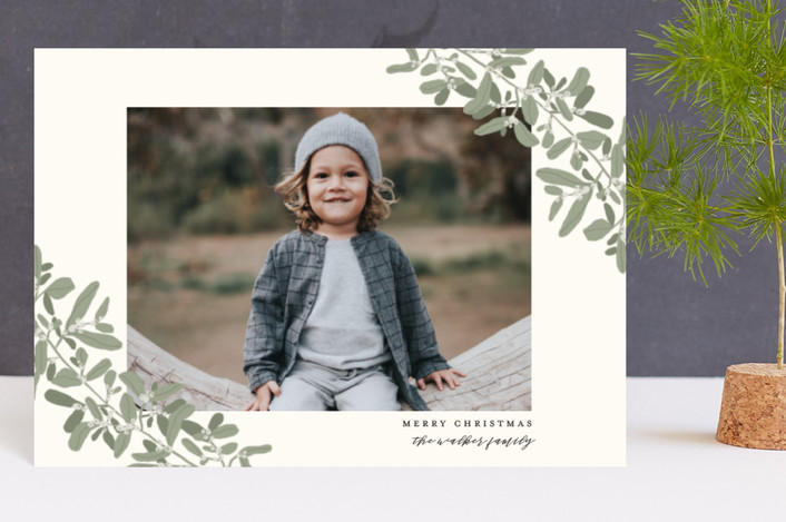 """Sweeping Mistletoe"" - Holiday Petite Cards in Evergreen by Grace Kreinbrink."