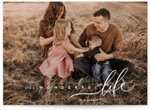 This is a white petite holiday card by chocomocacino called zucotto with standard printing on smooth signature in petite.