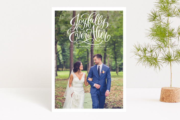 """Joyfully Ever After"" - Holiday Petite Cards in Snow by Laura Bolter Design."