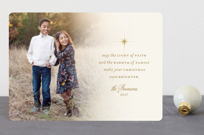 """""""light of faith"""" - Holiday Petite Cards in Light Gold by Dawn Jasper."""