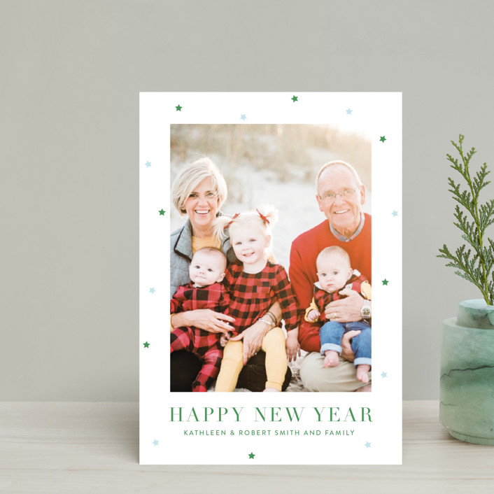 """""""Brightly"""" - Holiday Petite Cards in Boxwood by Toast & Laurel."""