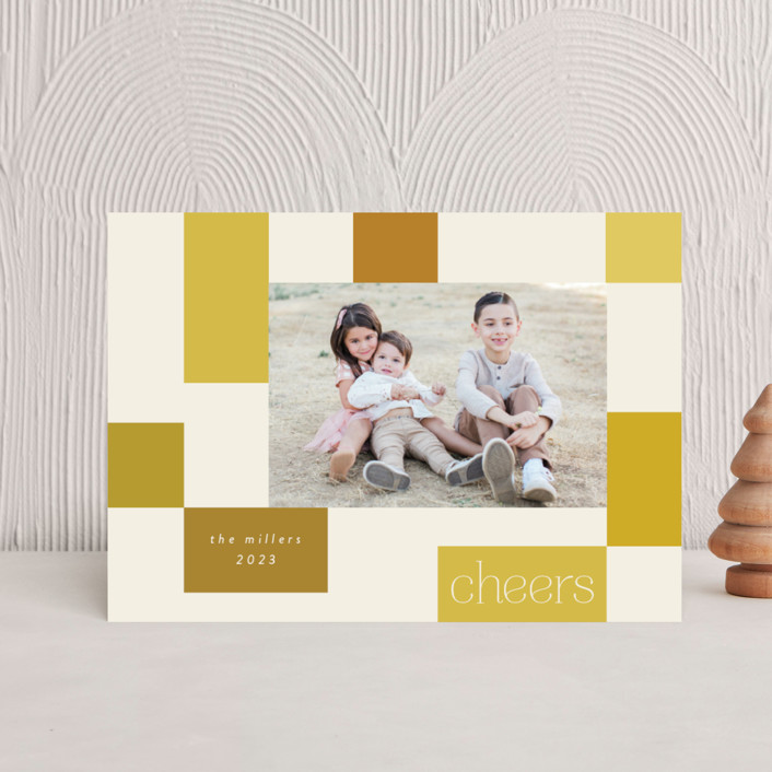 """""""Checkerboard"""" - Holiday Petite Cards in Sunshine by Morgan Kendall."""