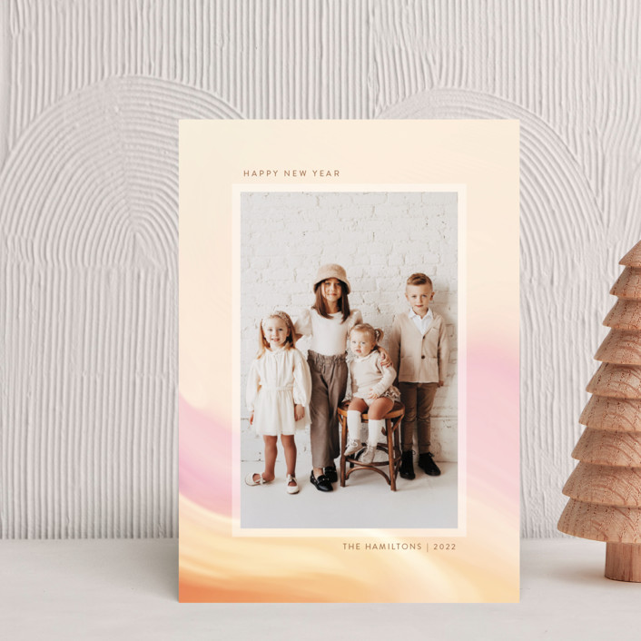 """""""painted light"""" - Holiday Petite Cards in Creamsicle by Kamala Nahas."""