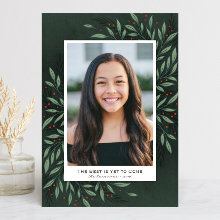 """Classic Greenery"" - Holiday Petite Cards in Forest by Lorent and Leif."
