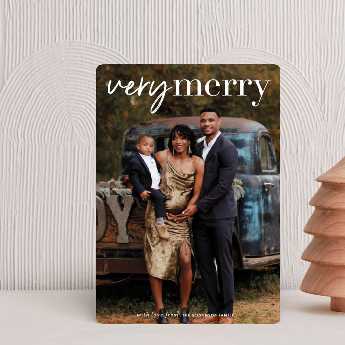 """very merry moment"" - Holiday Petite Cards in Snow by Sara Hicks Malone."