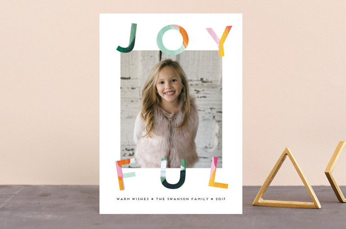 """""""Painted Joyful"""" - Holiday Petite Cards in Evergreen by Petra Kern."""