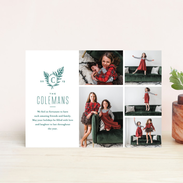 """""""Modern Classic"""" - Holiday Petite Cards in Pine by Oscar & Emma."""