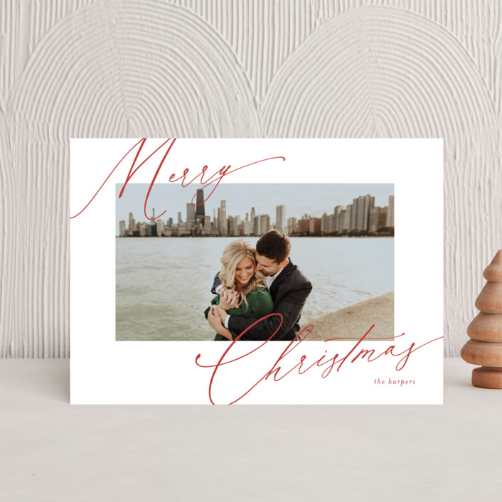 """""""scripted greeting"""" - Holiday Petite Cards in Holly by Kasia Labocki."""