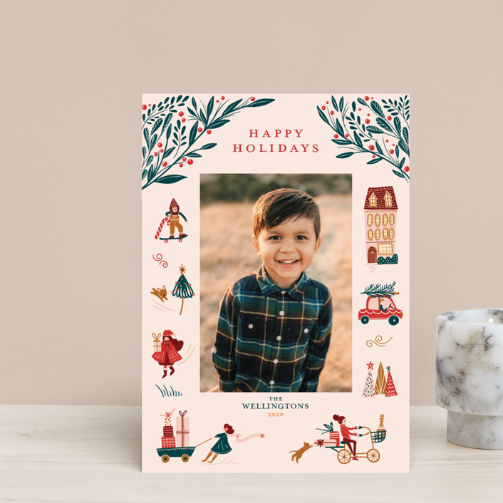 """""""Holiday Season"""" - Vintage Holiday Petite Cards in Pink by Vivian Yiwing."""