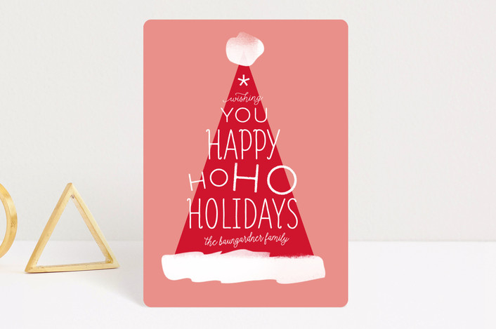 """Santa Hat"" - Holiday Petite Cards in Santa Hat by Baumbirdy."