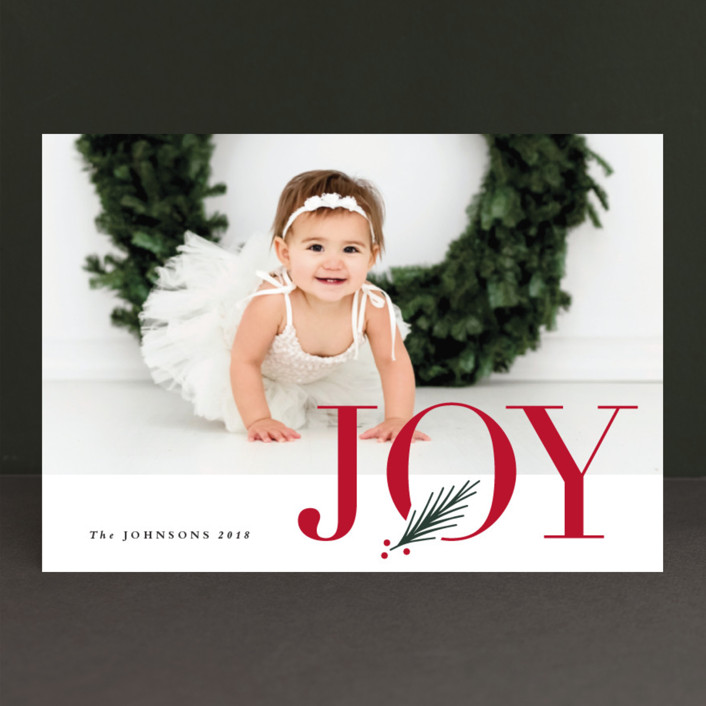 """J O Y"" - Holiday Petite Cards in Snowfall by Stacey Meacham."