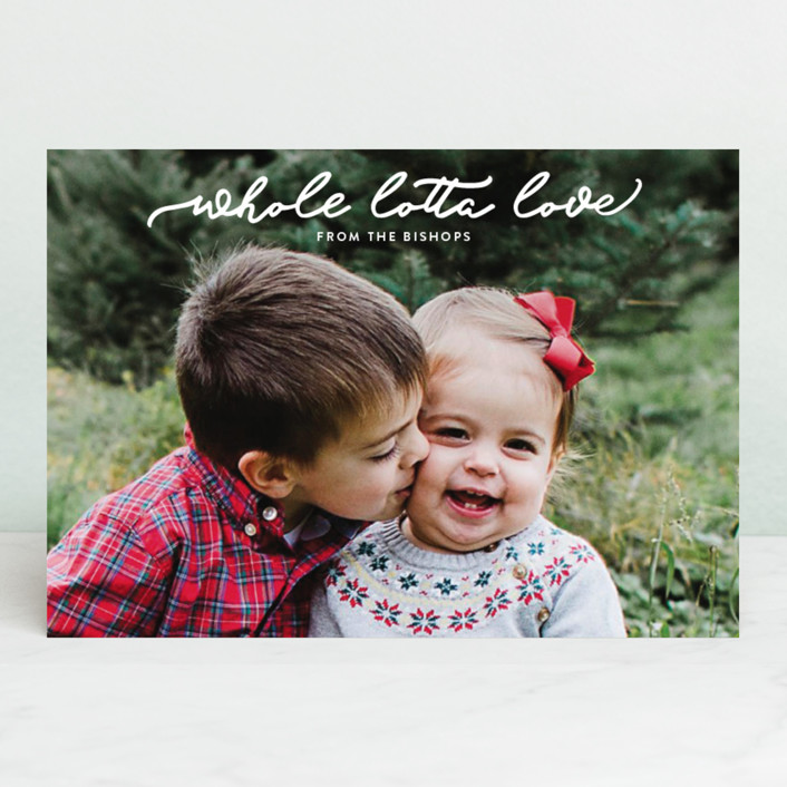 """whole lotta love"" - Holiday Petite Cards in Snow by Carol Fazio."