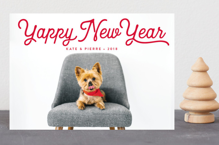 """""""Pawlala"""" - Holiday Petite Cards in Holly by Olivia Raufman."""