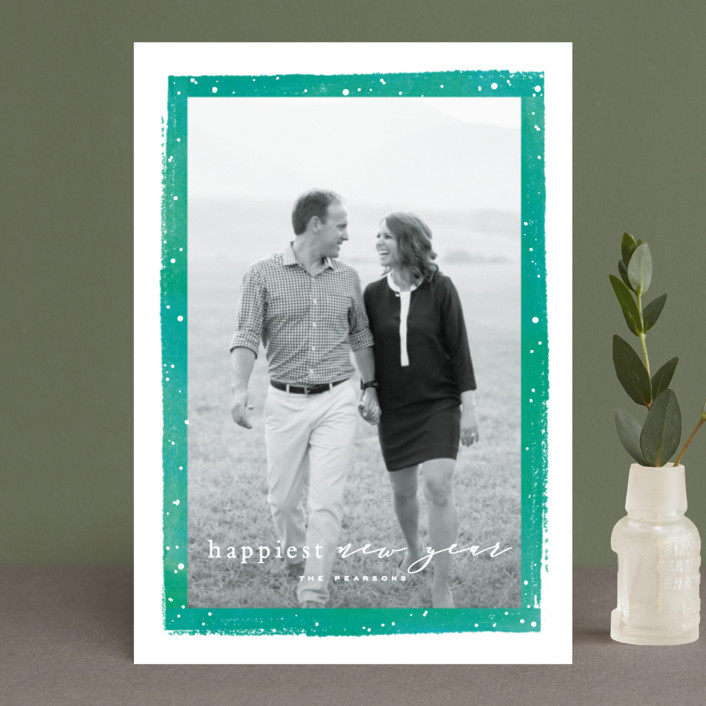 """""""Together Always"""" - Holiday Petite Cards in Cobalt by Hooray Creative."""