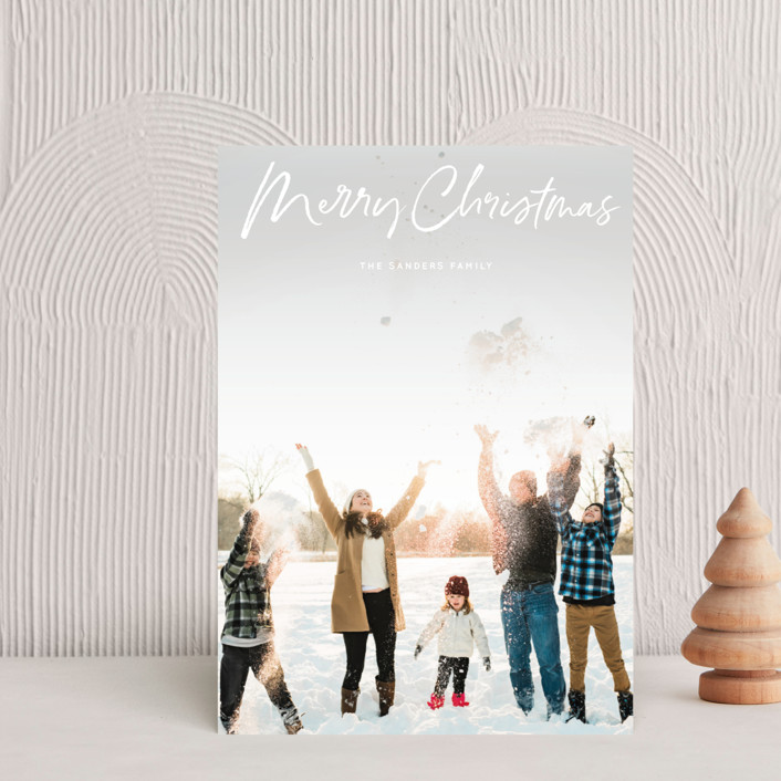 """marker script"" - Holiday Petite Cards in Snow by Baumbirdy."