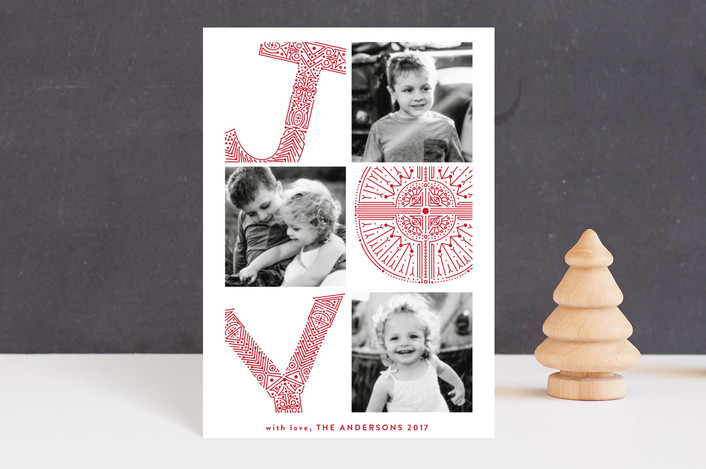 """pressed for joy"" - Holiday Petite Cards in Holly by Phrosne Ras."