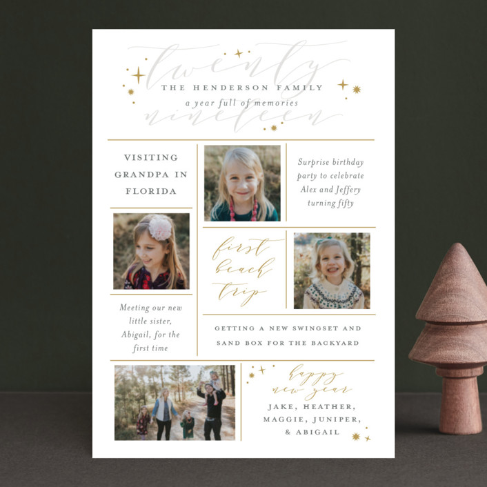 """""""A Year Full of Memories"""" - Holiday Petite Cards in Golden by Sarah Guse Brown."""